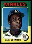 1975 Topps #534  Alex Johnson  Front Thumbnail