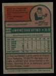 1975 Topps #543  Larry Biittner  Back Thumbnail