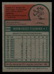 1975 Topps #583  Andy Etchebarren  Back Thumbnail