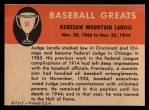 1961 Fleer #53  Judge Landis  Back Thumbnail