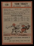 1962 Topps #128  Tom Tracy  Back Thumbnail