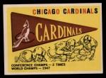 1959 Topps #24   Cardinals Pennant Front Thumbnail