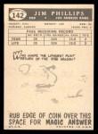 1959 Topps #142  Jim Phillips  Back Thumbnail