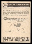 1959 Topps #119  Frank Varrichione  Back Thumbnail