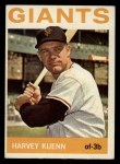 1964 Topps #242  Harvey Kuenn  Front Thumbnail