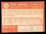 1964 Topps #244  Tony La Russa  Back Thumbnail