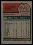 1975 Topps #436  Ken Frailing  Back Thumbnail