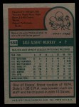 1975 Topps #568  Dale Murray  Back Thumbnail