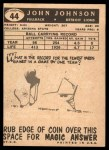 1959 Topps #44  John Henry Johnson  Back Thumbnail