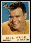 1959 Topps #110  Bill Wade  Front Thumbnail