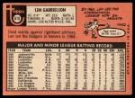 1969 Topps #615  Len Gabrielson  Back Thumbnail