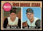 1968 Topps #559   -  Carl Taylor / Luke Walker Pirates Rookies Front Thumbnail