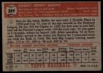 1952 Topps #249  Bobby Adams  Back Thumbnail