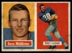 1957 Topps #8  Dave Middleton  Front Thumbnail