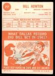 1963 Topps #77  Bill Howton  Back Thumbnail