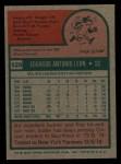 1975 Topps #528  Eddie Leon  Back Thumbnail