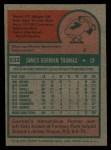 1975 Topps #532  Gorman Thomas  Back Thumbnail