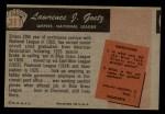 1955 Bowman #311  Lawrence Goetz  Back Thumbnail