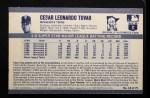 1971 Kellogg's #18  Cesar Tovar  Back Thumbnail