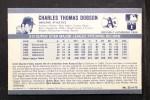 1971 Kellogg's #32  Chuck Dobson  Back Thumbnail
