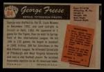 1955 Bowman #84  George Freese  Back Thumbnail