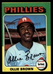 1975 Topps #596  Ollie Brown  Front Thumbnail