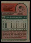 1975 Topps #597  Winston Llenas  Back Thumbnail