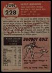 1953 Topps #228  Hal Newhouser  Back Thumbnail
