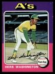 1975 Topps #407  Herb Washington  Front Thumbnail