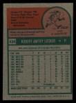 1975 Topps #434  Bob Locker  Back Thumbnail
