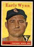 1958 Topps #100 ^WT^ Early Wynn  Front Thumbnail