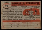 1956 Topps #70  Don Stonesifer  Back Thumbnail