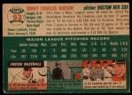 1954 Topps #93  Sid Hudson  Back Thumbnail