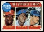 1969 Topps #12   -  Bob Gibson / Fergie Jenkins / Bill Singer NL Strikeout Leaders Front Thumbnail