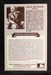 1972 Kellogg All Time Greats #3  John McGraw  Back Thumbnail