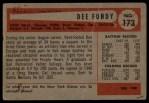 1954 Bowman #173  Dee Fondy  Back Thumbnail