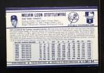 1972 Kelloggs #50  Mel Stottlemyre  Back Thumbnail