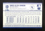 1972 Kellogg's #43  Davey Johnson  Back Thumbnail