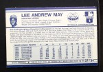 1972 Kelloggs #37  Lee May  Back Thumbnail