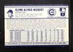 1972 Kelloggs #24  Glenn Beckert  Back Thumbnail