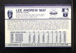 1972 Kellogg's #37  Lee May  Back Thumbnail