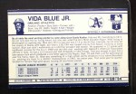 1972 Kelloggs #9 ERR Vida Blue  Back Thumbnail