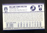 1972 Kelloggs #12  Bill Melton  Back Thumbnail