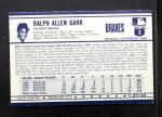 1972 Kelloggs #21  Ralph Garr  Back Thumbnail
