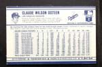 1972 Kelloggs #34  Claude Osteen  Back Thumbnail