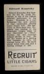 1912 T207  Ed Konetchy    Back Thumbnail