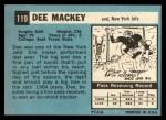 1964 Topps #119  Dee Mackey  Back Thumbnail