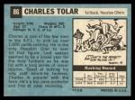 1964 Topps #86  Charles Tolar  Back Thumbnail