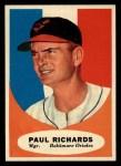 1961 Topps #131  Paul Richards  Front Thumbnail