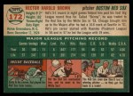 1954 Topps #172  Hal Brown  Back Thumbnail